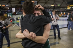 wrestling parent hug